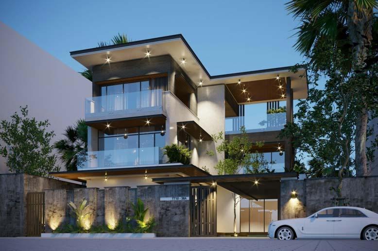 Thiết kế nhà hình chữ L giúp bạn tận dụng tốt không gian quanh nhà