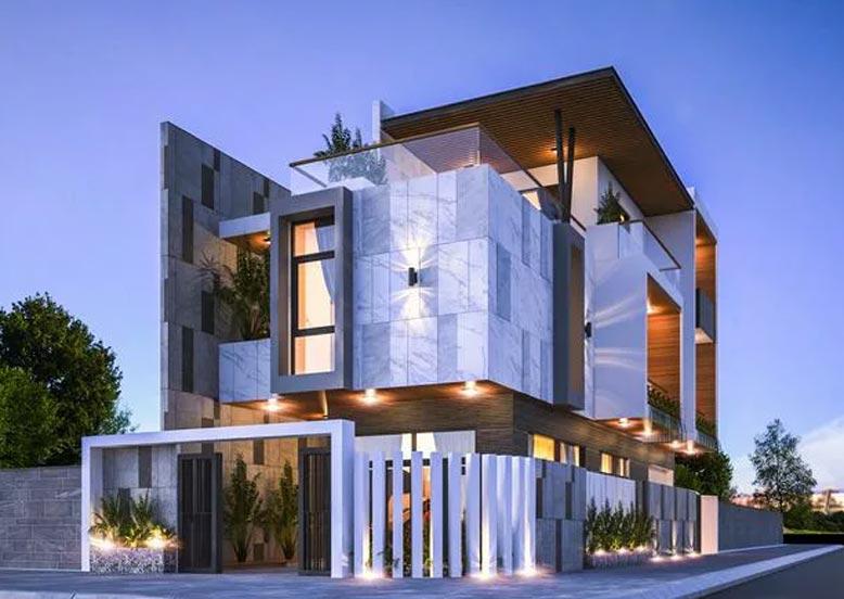 Thiết kế nhà 3 tầng hiện đại, sang trọng