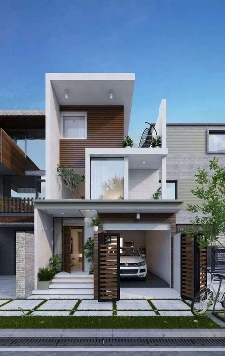 Diện tích đất xây là 3 tầng