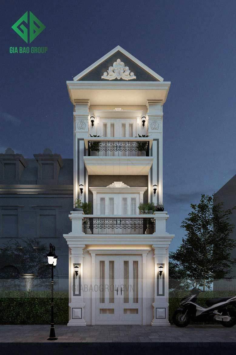 Mẫu nhà 3 tầng tân cổ điển của gia bảo group