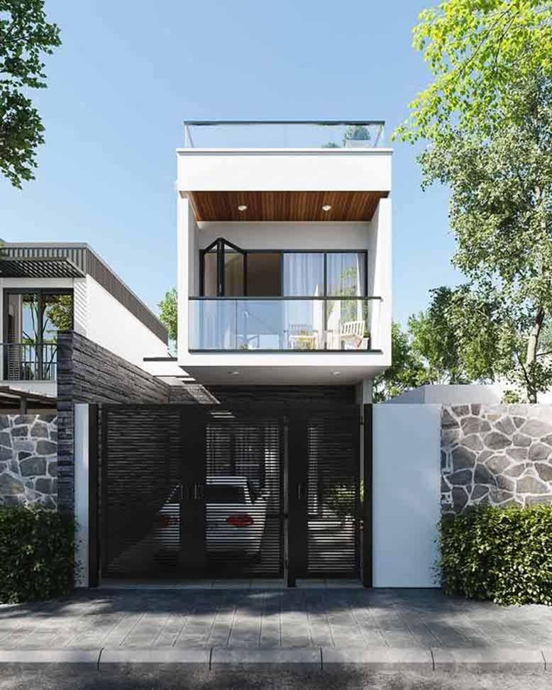 Thiết kế nhà phố với nhiều kiểu dáng khác nhau