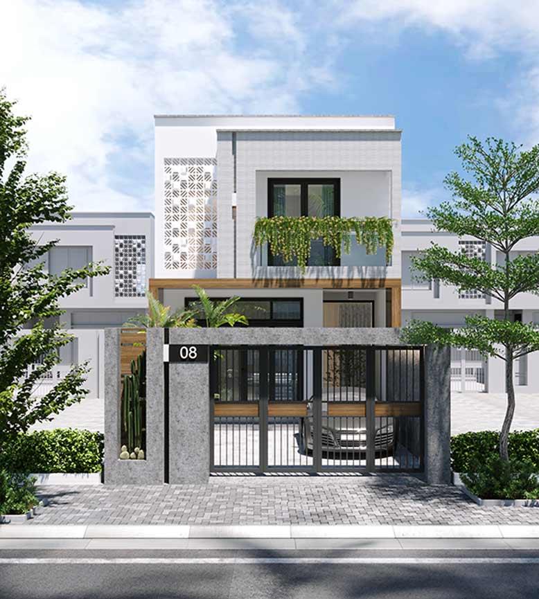 Giải pháp cho kiến trúc nhà phố 2 tầng
