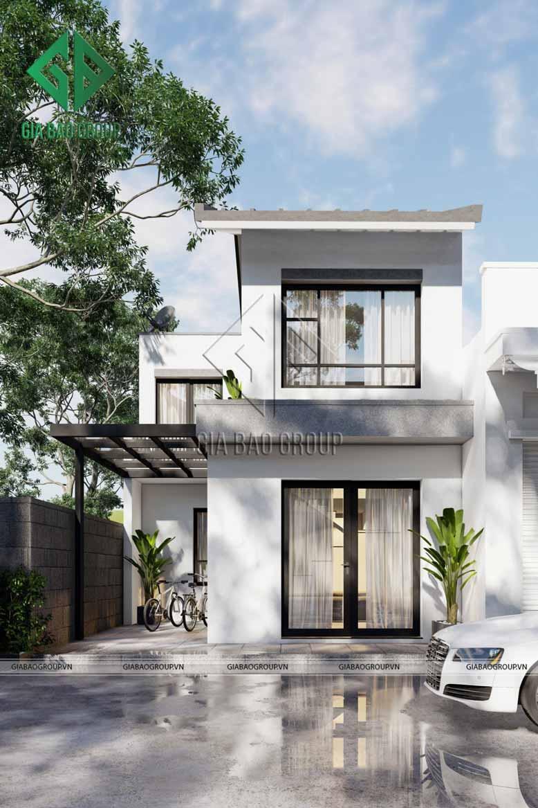 Thiết kế nhà phố 2 tầng theo phong cách tối giản