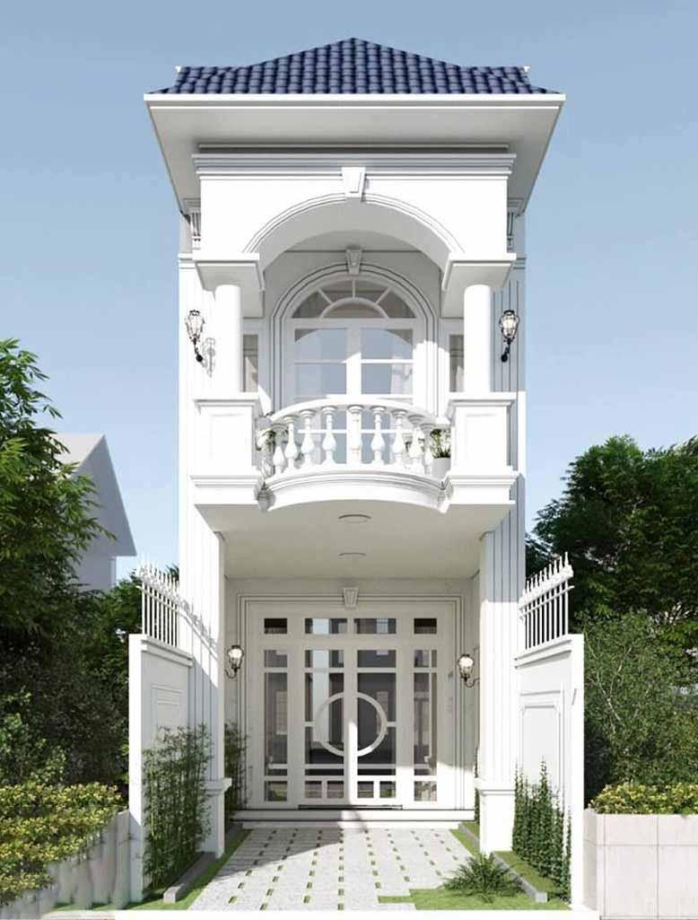Thiết kế nhà phố 2 tầng tân cổ điển