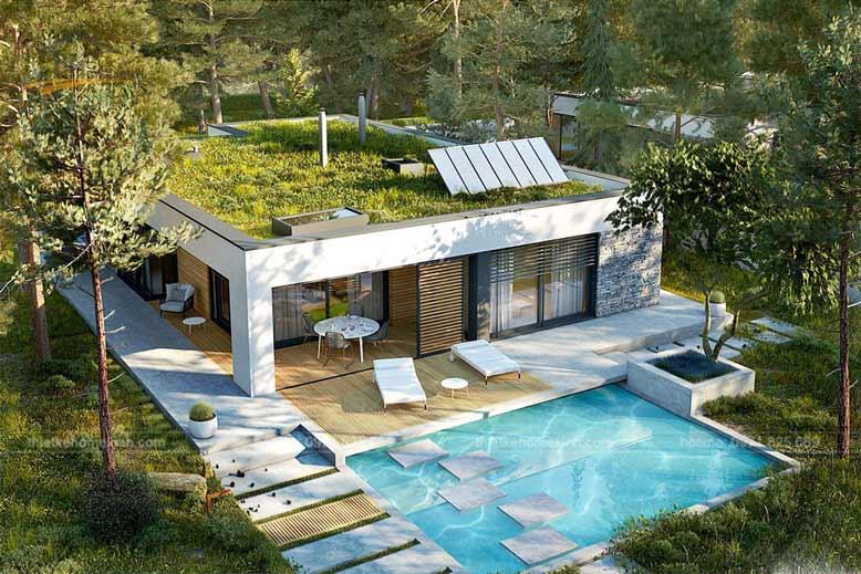 Nhà vườn 1 tầng thiết kế độc đáo
