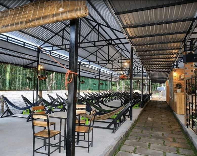 Thiết kế quán cafe võng trong các khu du lịch