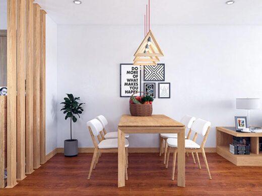 Nội thất chủ yếu sử dụng vật liệu gỗ