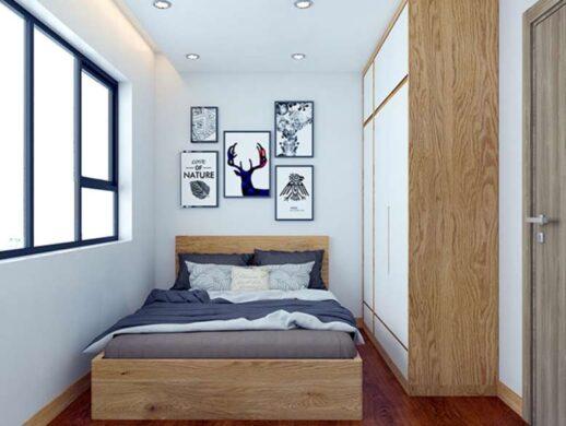 Gam màu trắng giúp không gian phòng ngủ trở nên tinh tế, nhẹ nhàng hơn