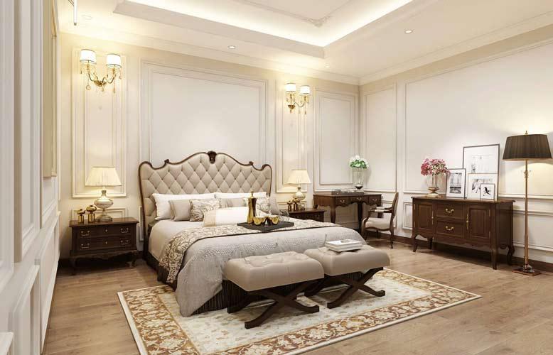 Phòng ngủ được thiết kế vô cùng đẹp