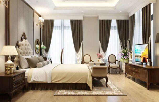 Phòng ngủ được thiết kế vô cùng thông thoáng