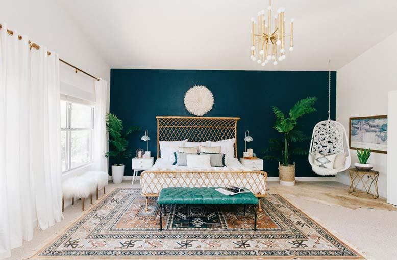 Thiết kế phòng ngủ phong cách nhiệt đới