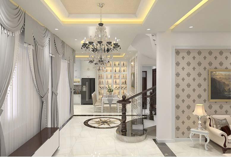 Thiết kế phòng khách liên thông với phòng khách