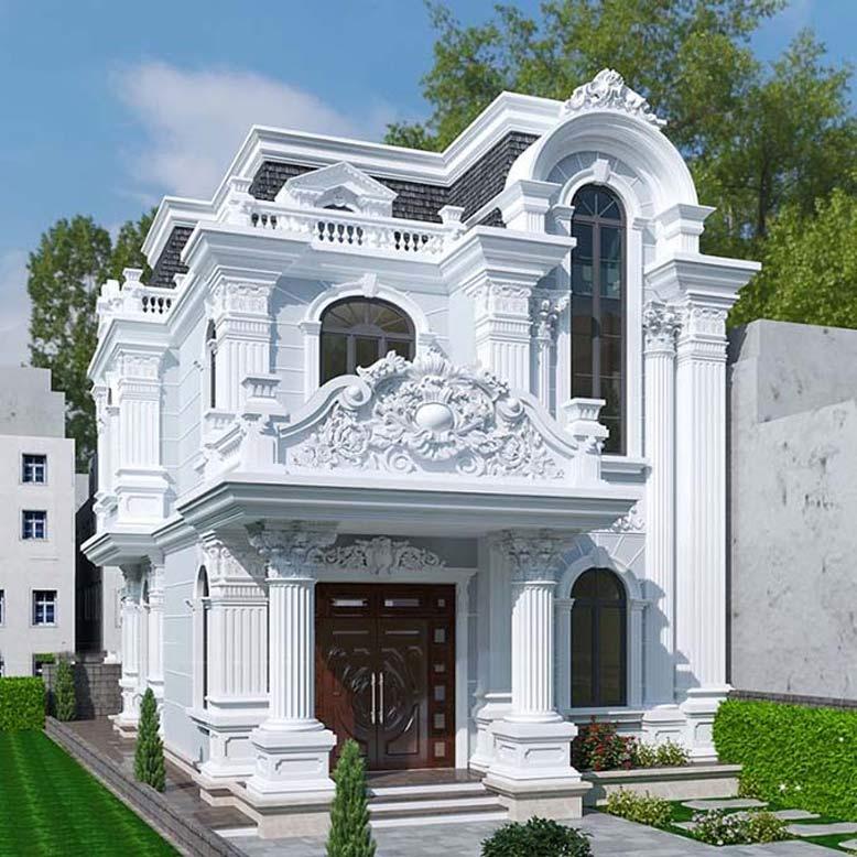 Mẫu thiết kế nhà 2 tầng phong cách cổ điển